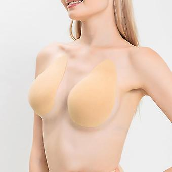 Pair of reusable silicone adhesive invisible push up lifting bra pasties