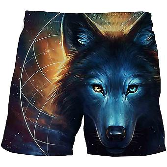 Wolf Kids Cartoon Pantaloncini-ragazze Summer Beach Loose Casual Pantaloni