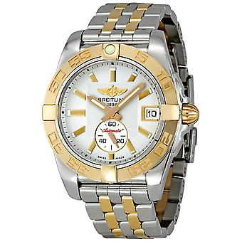 Breitling Galactic 36 Silver Dial Automatic Chronometer Two-tone Men's Watch C3733012/G714