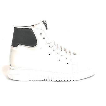 Unisex Tony Wild Sneaker High In White Leather/ Black U19tw04