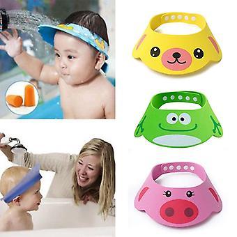 Kinderen bad vizier hoed verstelbare baby douche cap beschermen shampoo haar wassen schild voor kinderen baby waterdichte cap