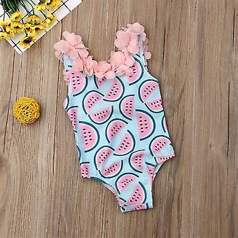 2020 Batoľa dieťa melón plavky Plavky Plávanie Bikini Jednodielne