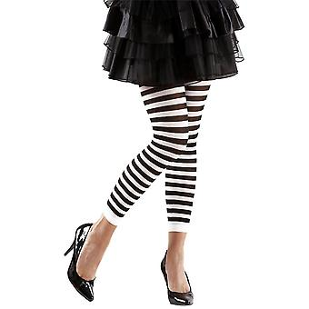 Volwassen zwart-wit gestreepte leggings