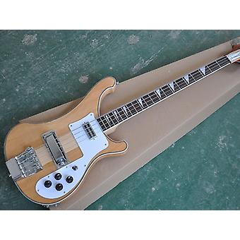 Electric Bass Guitar With White Pickguard