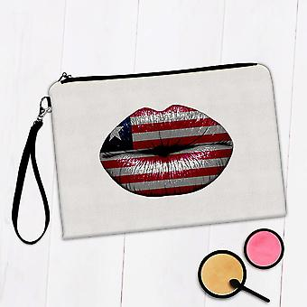 Gave Makeup Bag: Lips liberianske Flag Liberia