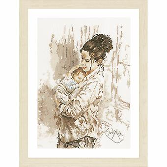 Lanarte Counted Cross Stitch Kit: Mother's Love (Evenweave)