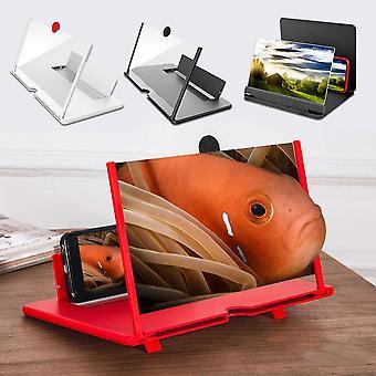 10 Polegadas 3D Mobile Phone Screen Ampliador HD Video Amplifier Stand Bracket com jogo de filme ampliando suporte de mesa de telefone dobrável
