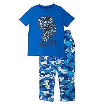 Popgear Boys Dinosaur Roar Camo Pyjamas Set