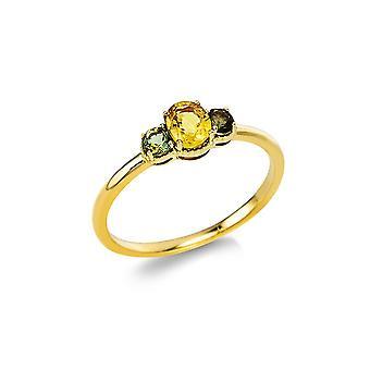 Луна Создание Промеса Кольцо Цветной камень 1V539G853-1 - Ширина кольца: 53