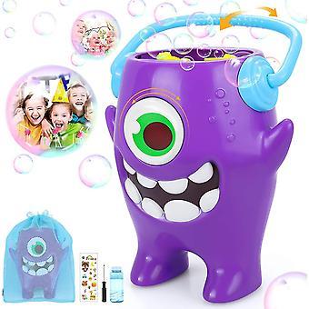 FengChun Seifenblasenmaschine Kinder, Automatischer Bubble Machinemit 100ml Blasenflüssigkeit und 1