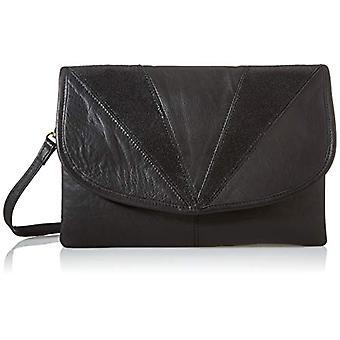 PIECES PCGINE Leather Cross Body FC, Women's Folder Bag, Black Details: Black Snow, keine Angabe