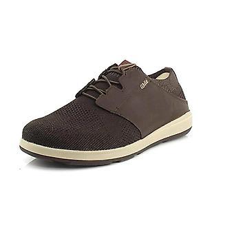 OluKai Mens Makia Ulana Fabric Low Top Bungee Fashion Sneakers