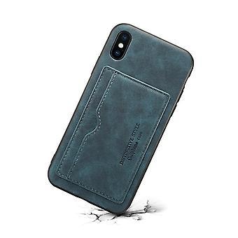 Slot per carte custodia in pelle portafoglio per samsung note9 blu on1342
