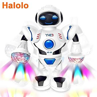 Halolo Mini RC Robot with Model walking robots Early educational Toys for children|RC Robot(White)