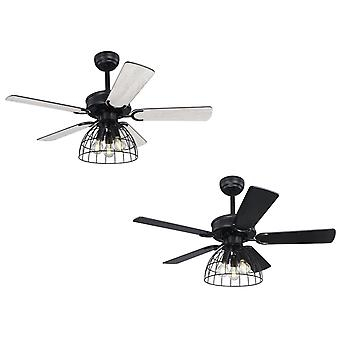 Ceiling fan Sallie Black with lights and remote