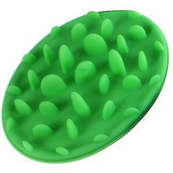 L 30.5 * 22.5 * 4cm vihreä lemmikkieläinten ruokinta hidas syöminen kulho, anti-choke ja anti-slip koiranruoka kulho az9505