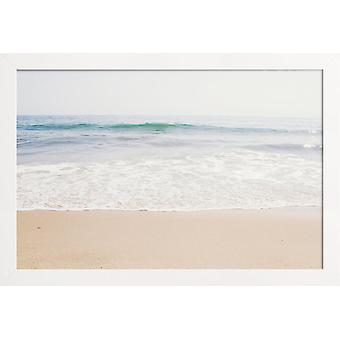 JUNIQE Print -  Malibu - Strände Poster in Blau & Braun