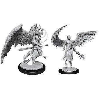 D&D Nolzurs fantastiska omålade miniatyrer (W13) Deva & Erinyes