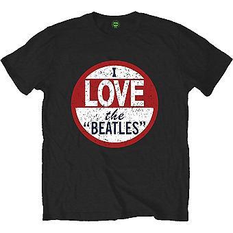 The Beatles I Love the Beatles Miesten suuri T-paita - Musta