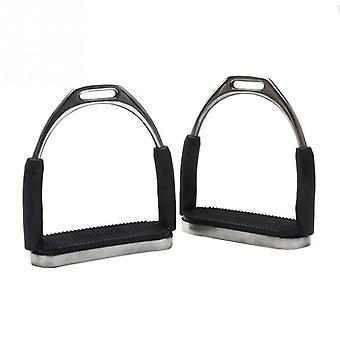 1pair Durable Sports Anti Slip Racing Horse Riding Stainless Steel Safety