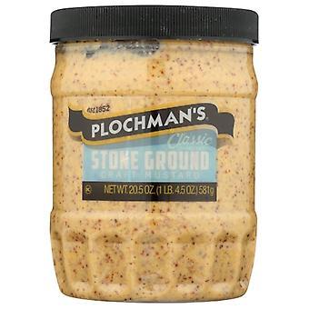 Plochmans Mustard Stone Grnd, Case of 6 X 20.5 Oz