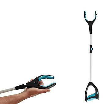 New Folding Picker Tool Garbage Clip Rotating Handle With Light