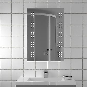 Miroir de salle de bain électrique à LED 60 avec horloge numérique