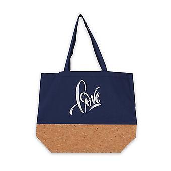 متعددة الاستخدامات حقيبة الحب الأزرق النسيج (15 × 36 × 45 سم)