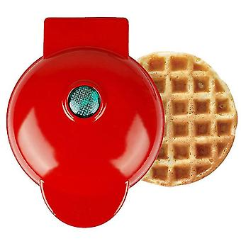 Mini Waffle Maker Household Children's Baking Machine(Red2)