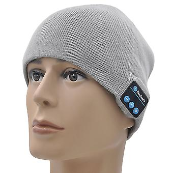 Samsung Galaxy Xcover 4 (Light Grey) Unisex One Size Winter Bluetooth Beanie Hat with Built-in Wireless Stereo Speaker Headphone