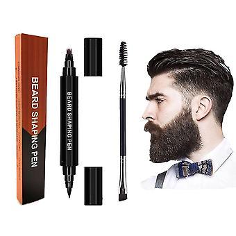 Kaksipääinen parta täytekynäsarja kaksinkertainen pää muotoilu hiukset kulmakarva työkalu