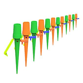 Homemiyn 12 Pcs Plant Self Watering Spikes Devices,auto Vacation Plant Self Watering For Outdoor Indoor Potted Plant Watering