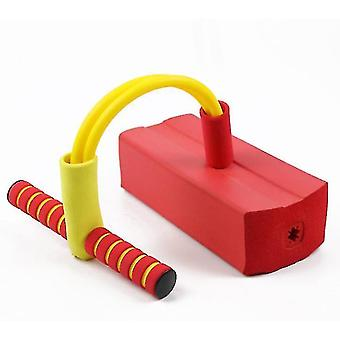Schaumstoff Pogo Pullover für Kinder Spaß und sichere Springstock Pogo Stick (rot)