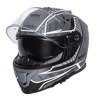 Spada SP1 Raptor / Motorcycle Helmet Matt Black/Grey