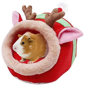 Chinchilla Hedgehog Guinea Bed Accessories Cage Toys Small Pet House(Reindeer)