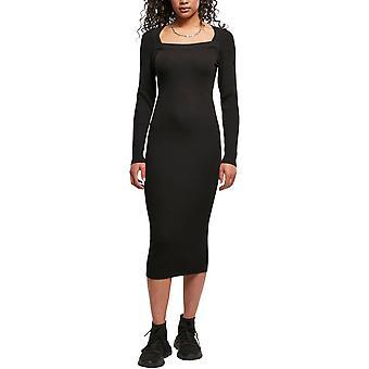 Urban Classics Damer - Lång stickad stickad klänning svart