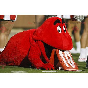 Mascote REDBROKOLY.COM de pequeno monstro vermelho