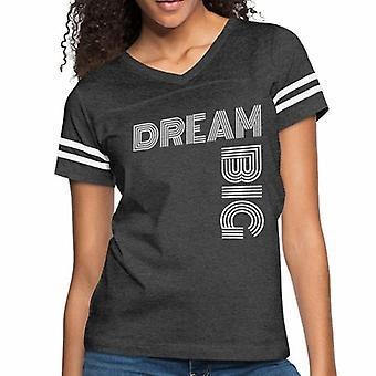 Women's Short Sleeve T-shirt, Dream Big Vintage Sport Graphic Tee