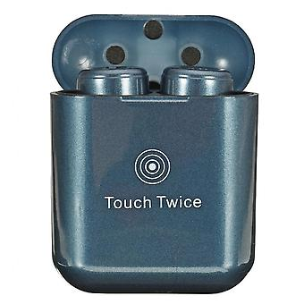 X3t Tws Double Bluetooth Earphones Stereo Touch Control Earbuds With Charging Box Blue Color