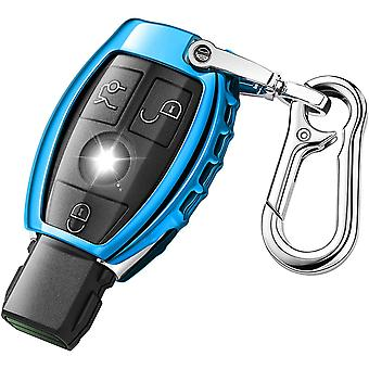 QBUC Car Key Cover for Mercedes Benz Soft TPU Car Key Case Holder Protector with Keychain Compatible