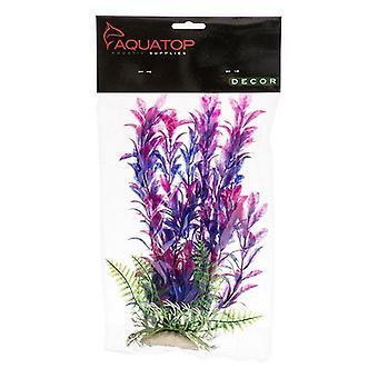 "Aquatop Hygro Aquarium Plant - Pink & Purple - 9"" High w/ Weighted Base"