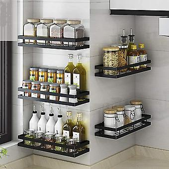 Stainless Steel Non-perforated Wall-mounted Spice Rack