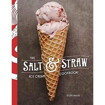Libro de cocina de helado de paja y sal