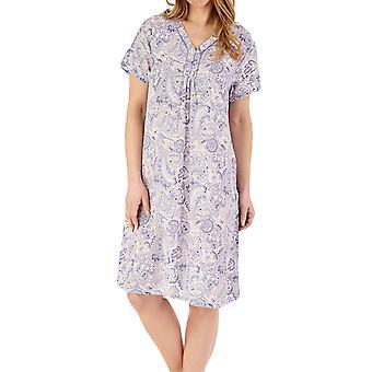 Slenderella ND88226 Women's Paisley Nightdress