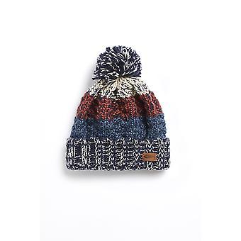 Hutchins Eco Block Stripe Hat Brique Rouge