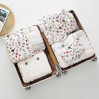 7 stuk set van bagage verpakking reisorganisator kubussen en zakken (Beibai Qiaojia)