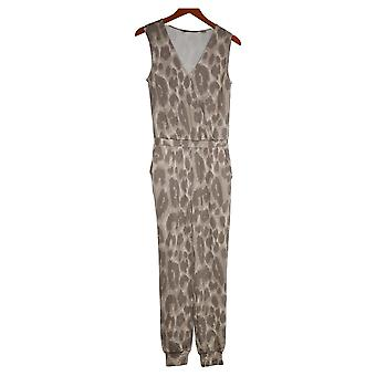 G By Giuliana Jumpsuits LounGy SoSoft Knit Jogger Beige 745939