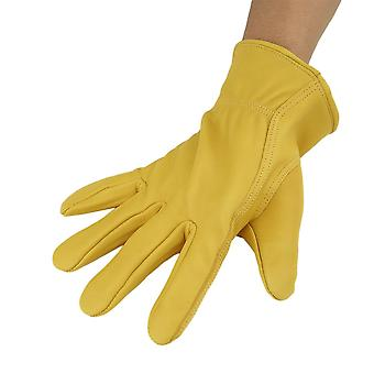 Work Gloves Cowhide Driver Security Protective Wear-resistant Motorcycle Gloves
