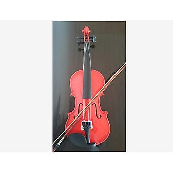 Student Akustisk fiolinstørrelse Lønnegran med baug rosinrød