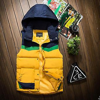 Men's Padded Waistcoat Detachable Cap Spring & Autumn & Winter Sleeveless Padded Jacket
